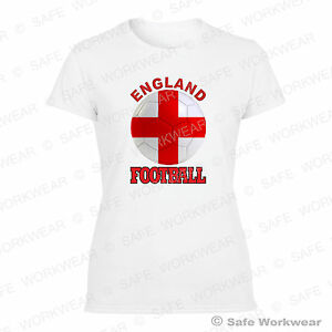 England-Ladies-Cotton-T-shirt-for-UK-Football-Fans-Sexy-Girls-Tops