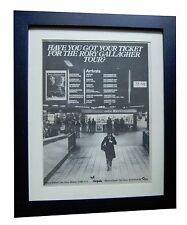 RORY GALLAGHER+Photo Finish+POSTER+AD+RARE ORIGINAL 1978+FRAMED+FAST GLOBAL SHIP