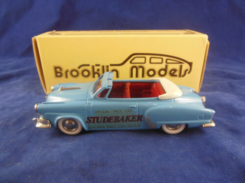 Brooklin Models BRK17X 1952 Studebaker Commander Indianapolis Pace Car in Blue