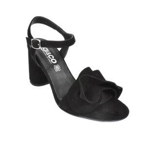 Sandali eleganti IGI&CO scarpa tacco nero pelle scamosciato