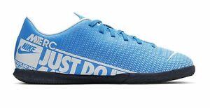 Nike-Enfants-Football-Halles-Chaussures-JR-Vapor-13-Club-IC-bleu-clair