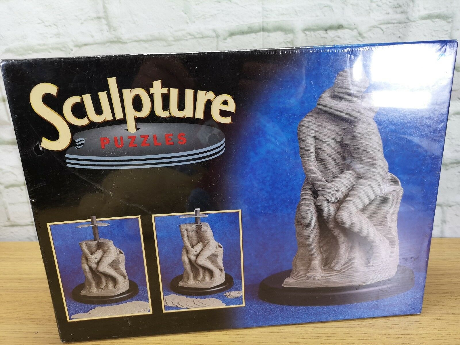 VINAGE MB 3D Sculpture Puzzle - The Kiss - FACTORY SEALED (s1)