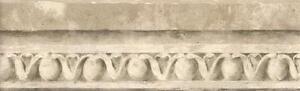 Wallpaper-Border-Faux-Stone-Egg-amp-Dart-Molding-Taupe-Gray