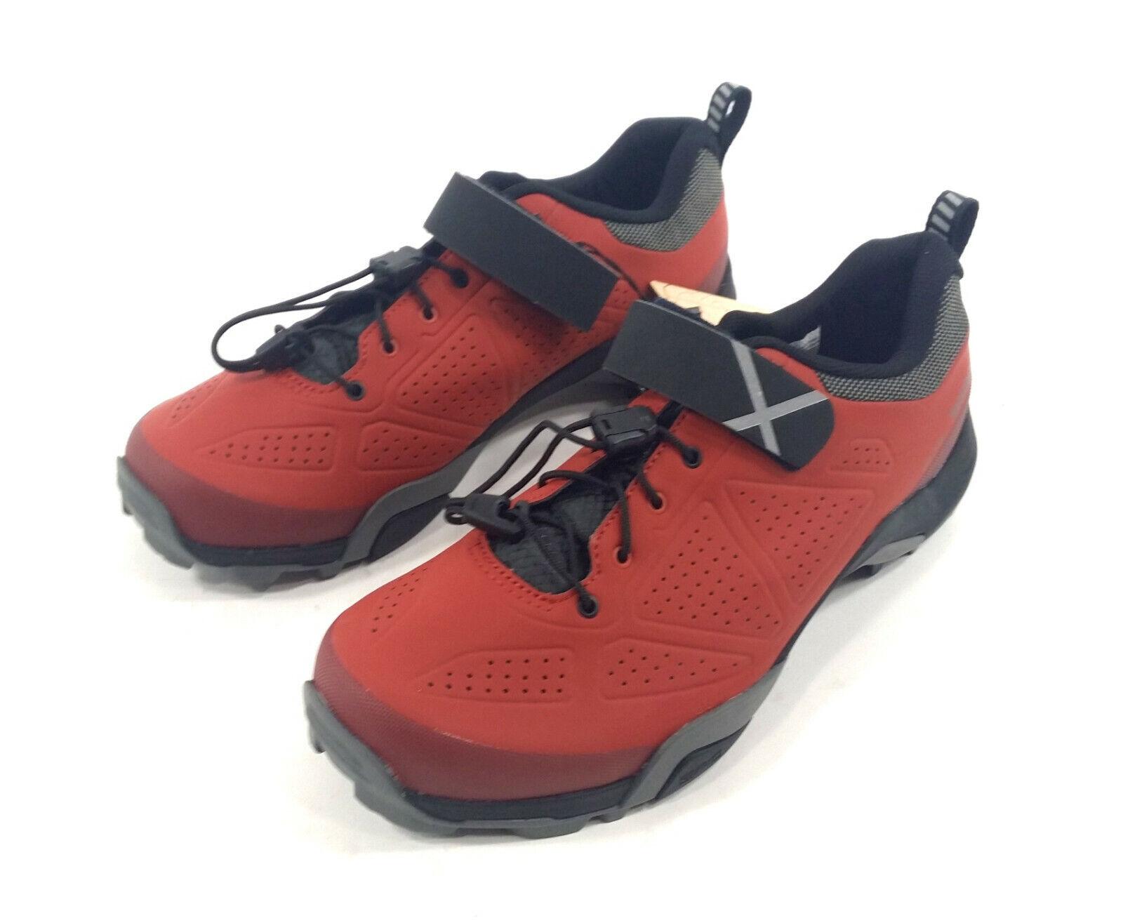 Shimano SH-MT5 Mountain Bike shoes - Men's 6.7 (), Red