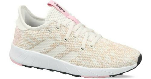 WOMENS ADIDAS QUESTAR X BYD BROWN PINK RUNNING CASUAL  ATHLETIC CLOUDFOAM SHOES
