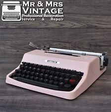 Serviced Pink Olivetti Lettera 32 Typewriter Working Black Red ribbon Vintage