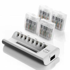 EBL AA AAA Battery Charger and AAA Rechargeable Batteries Ni-MH 1100mAh 16 with