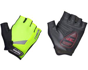 New Free P/&P 9 GripGrab 1029 ProGel Hi-Vis Padded Fingerless Glove Size M