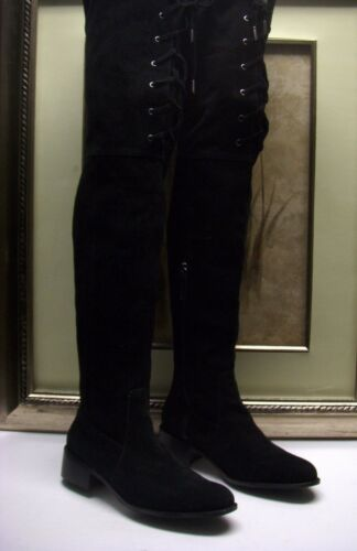 Delman Stacy Over-the-Knee Lace-Up Boot Size 8 $59