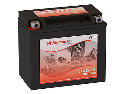 Mighty Max YTX12-BS 12V 10AH GEL Battery for Yamaha YZF600R 12V 2Amp Charger