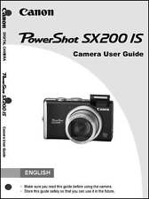 Canon Powershot SX200 IS Digital Camera User Instruction Guide  Manual