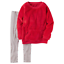 NWT $38 Carter/'s 2-Pc Fall Outfit Hoodie /& Leggings Set Sizes 4 6X 8
