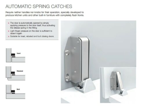 Catch in Choice of Three Finishes QUICK Automatic Spring Catch Steel