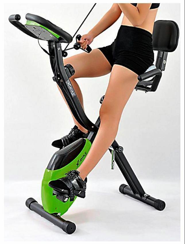 2 in 1 Heimtrainer Fahrrad Fitness Sport Expanderbänder Arm Bein Training