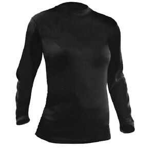 BASE-LAYER-TOP-4-SEASON-Ladies-16-black-thermal-tshirt-baselayer-long-sleeve-top