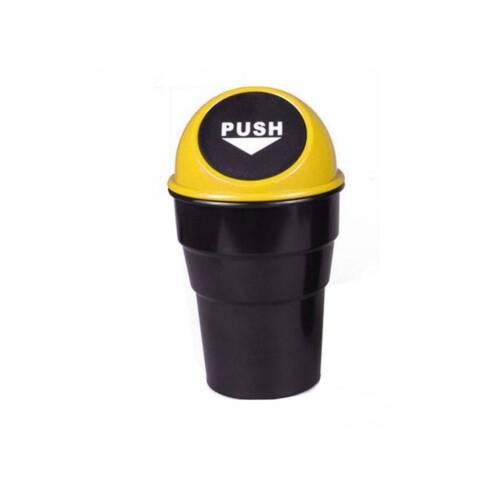 Mini Office Home Auto Car Waste Trash Rubbish Bin Can Garbage Dust Case Holder