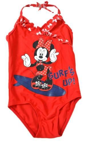 M/&S Ragazze Costume Da Bagno Costume Da Bagno Minnie Mouse Rosso 1 2 3 4 5 NUOVO