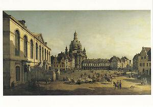 Kunstkarte/ Postcard: Canaletto - Der Neumarkt in Dresden vomJüdenhofe aus