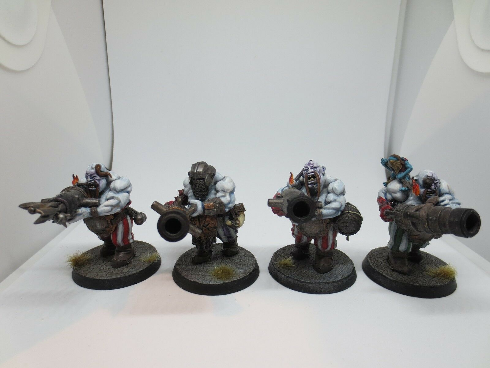 Gutbusters 4 Leadbelchers Ogre Kingdom Well Painted Resin Warhammer G96