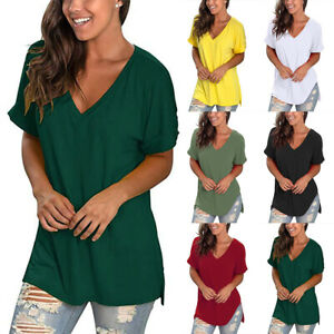 Damen Sommer Bluse Shirt Longtop Oberteil Langarm Freizeit Tops Shirts Tunika