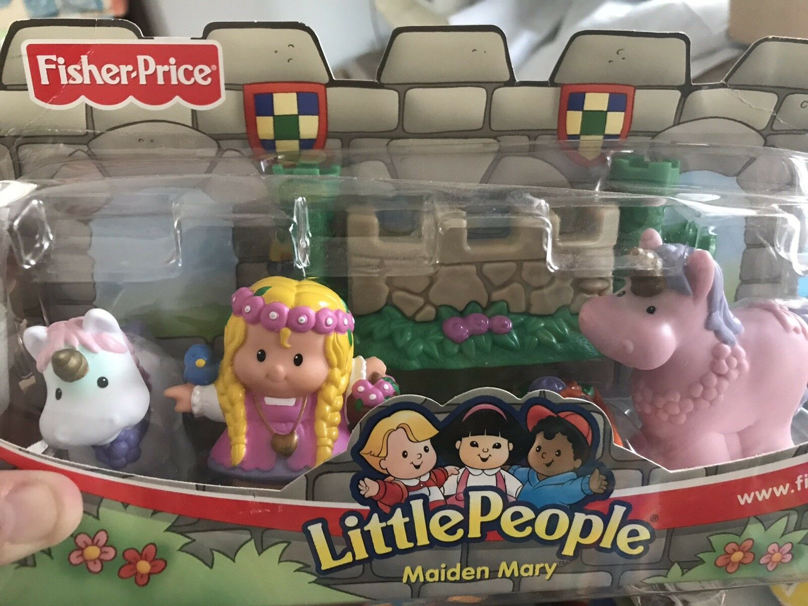 Vintage 2003 Little People Lil Lil Lil Kingdom Castle Maiden Mary Set New In Box 1e2166