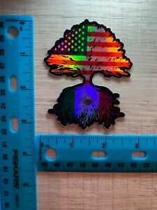 Mexican Flag American Flag America Mexico Decal Sticker.