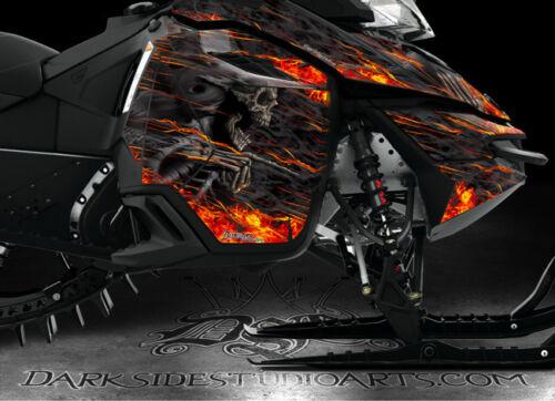 "SKI-DOO 2013-2015 XM REV SUMMIT /""HELL RIDE/"" GRAPHICS WRAP FREERIDE SUMMIT DECALS"
