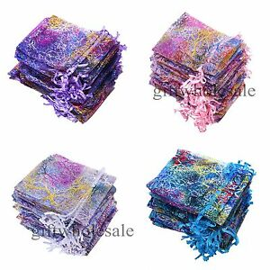 25-50-100pcs-Coralline-Organza-Jewelry-Pouch-Wedding-Party-Favors-Candy-Bags
