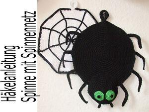 Häkelanleitung Topflappen Spinne Mit Spinnennetz Motivtopflappen