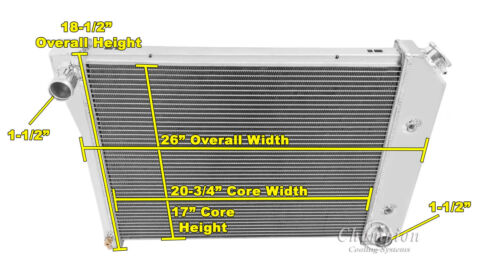 CC571 Champion Cooling Systems  3 Row WR Aluminum Radiator