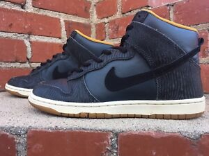 sneakers for cheap 7b8f8 91077 Image is loading Nike-Dunk-Sky-Skinny-Print-Tiger-Anthracite-Black-