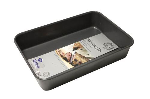 Prochef Grande Profundo Bandeja de asar Premium Calidad Silicona recubrimiento de teflón Puro
