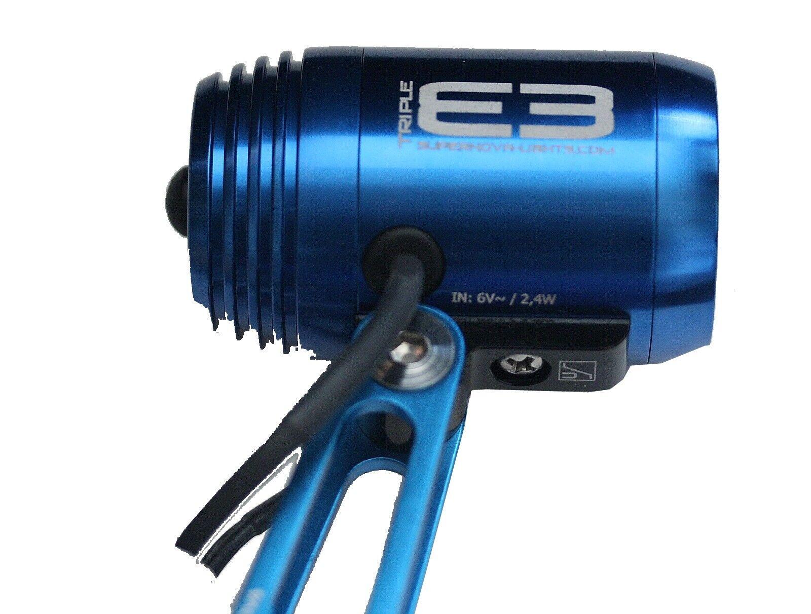 SUPERNOVA Frontscheinwerfer E3 triple blue 800 Lumen