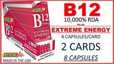 Genuine Stacker2 B12 Extreme Energy 4/Card (Lot of 2 X Cards) = 8 Capsules