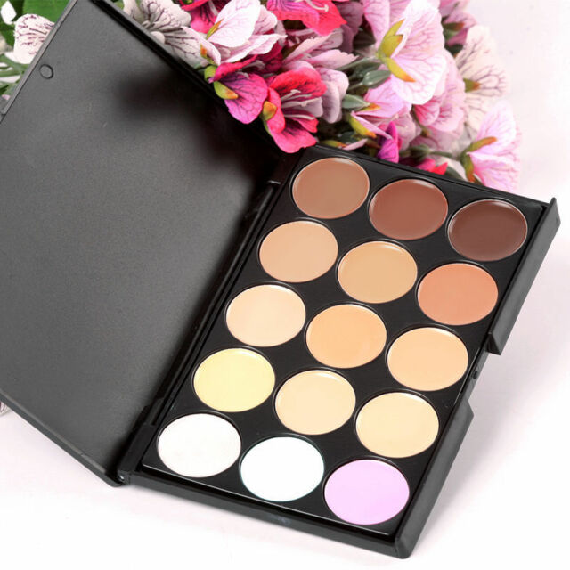 HOT 15 Colors Beauty Pro Contour Face Cream Makeup Concealer Palette Eyeshadow B