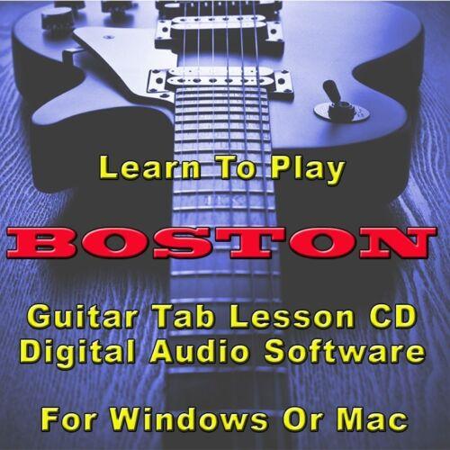 26 Songs BOSTON Guitar Tab Lesson CD Software