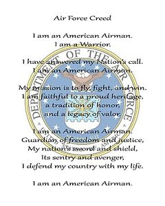 Airmans creed printed fabric block for quilting or applique 8 x 10 image is loading airman 039 s creed printed fabric block for thecheapjerseys Images