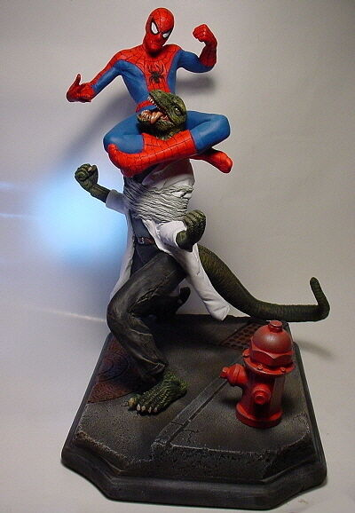 Amazing Spider-man Vs Lagarto estatua W profesional construir & Pintura RARO