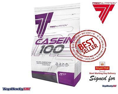 TREC Casein 100 Slowy Absorbet Protein Anti-Catabolic + BCAAs + Free 1st Class !
