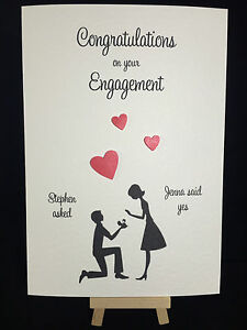 image is loading personalised handmade engagement card - Engagement Cards