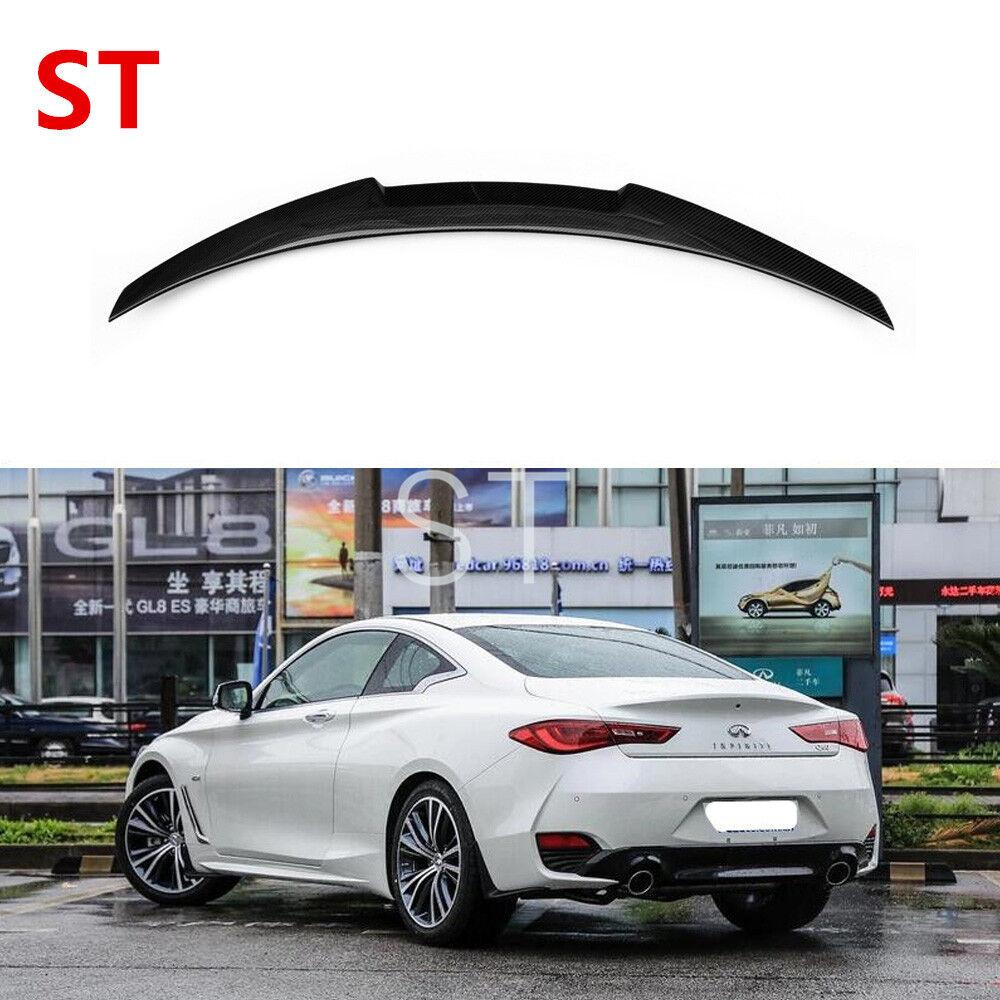 For Infiniti Q60 Coupe 2017+ Carbon Fiber Trunk Spoiler