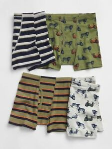 cdacdc05508 New Gap Kids 4 Pack Boxer Briefs Underwear 6 7 8 10 14 NWT 4 Pairs ...