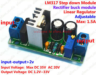 AC/DC to DC Converter LM317 Adjustable Buck Step Down Voltage Regulator 5V 12V