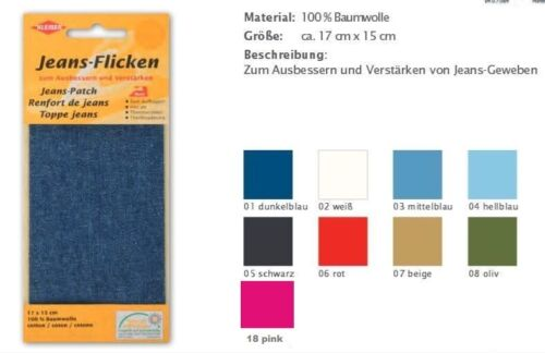 Parche del dril de algodón 17x15cm Kleiber a la prensa todos los colores