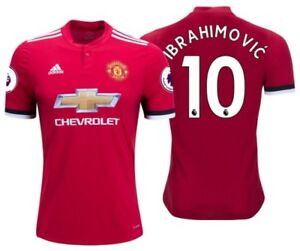 new concept 1c423 c7d38 Details about ADIDAS ZLATAN IBRAHIMOVIC MANCHESTER UNITED HOME JERSEY  2017/18.