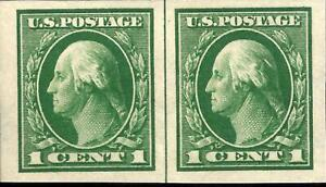ORLEY-STAMPS-US-Stamp-Scott-408-imperf-pair-XF-Superb-MNH-Gorgeous-PO-fresh