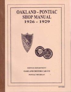s l300 1926 1927 1928 1929 pontiac shop service repair manual engine 1929 Oakland Brougham at mifinder.co