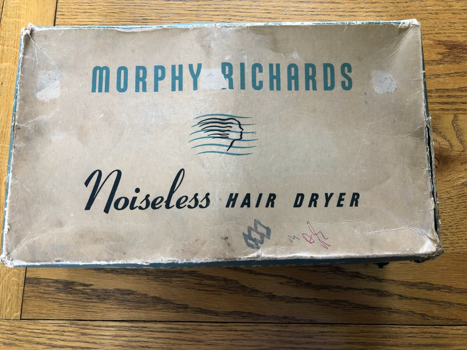 Morphy Richards Noiseless Hair Dryer, Original Box, Vintage Retro collectable