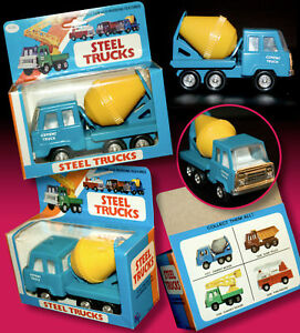 Aufrichtig Altes Blechspielzeug Auto Steel Truck Betonischer Ovp Hong Kong 70er Tin Toy Antikspielzeug