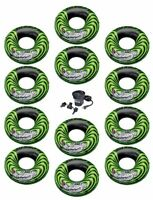 Intex River Rat Inflatable Floating Tube Raft (set Of 12) & Quick Fill Air Pump on sale